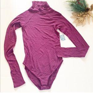 Free People Intimately Long Sleeve Bodysuit Size M
